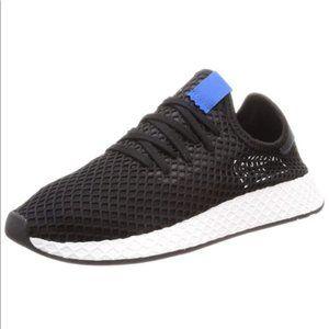 ADIDAS Deerupt Runner Black/ White Sneakers Sz 8.5